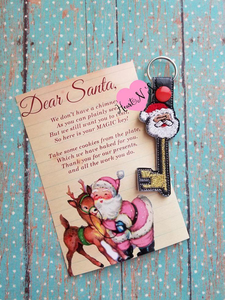 Magic Santa Key, Santa Key Chain, Santa Key by Heartnsol1 on Etsy