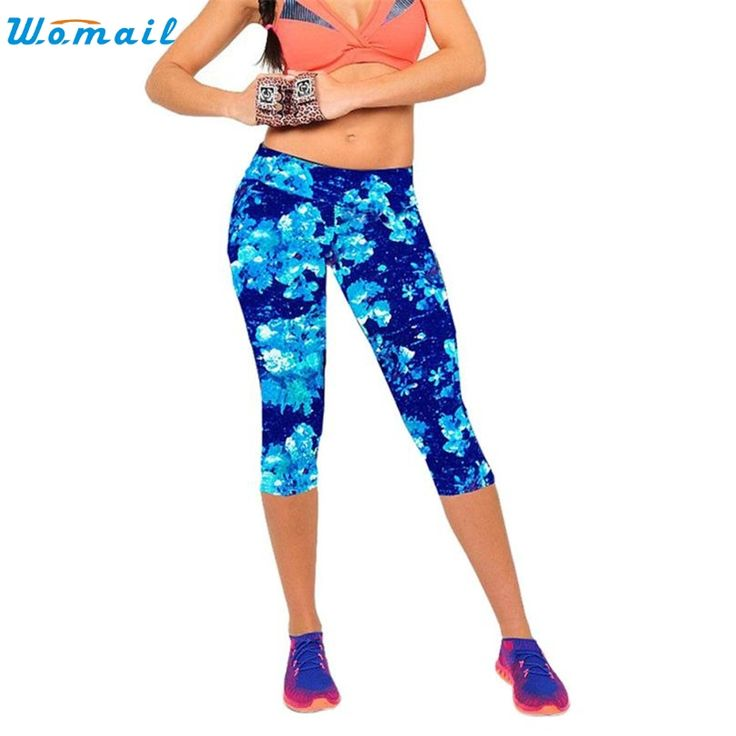 Durable 2017 6 color  leggings women High Waist Fitness Workout Pants Printed Stretch Cropped Leggings -  http://mixre.com/durable-2017-6-color-leggings-women-high-waist-fitness-workout-pants-printed-stretch-cropped-leggings/  #Leggings