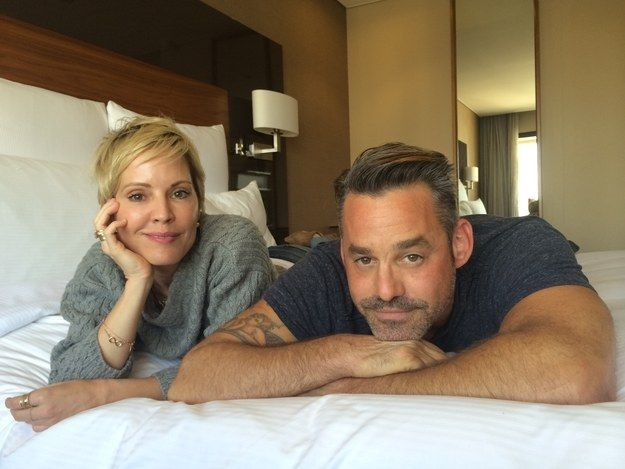 Emma Caulfield (Anya) and Nicholas Brendon (Xander) in 2014.