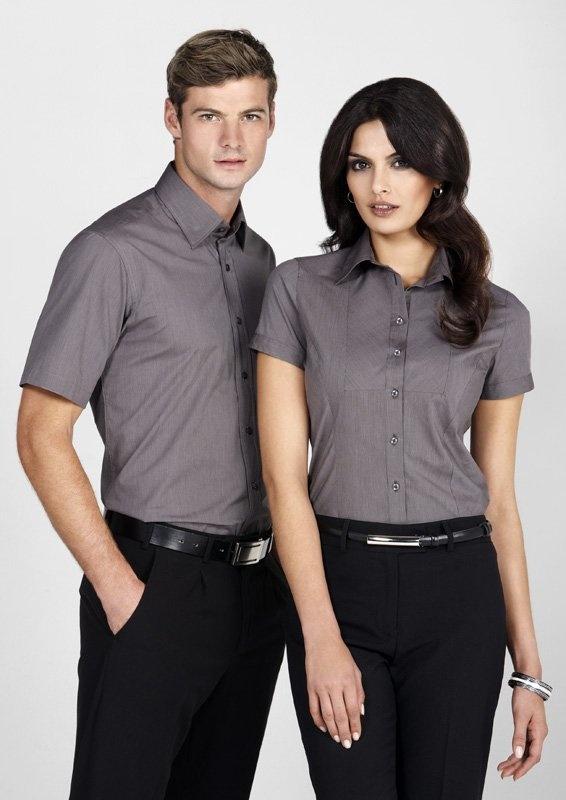 Chevron Mens Short Sleeve Shirt - S122MS, Biz Collection | Clothing Direct
