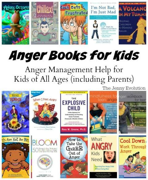 Anger Books for Kids: Anger Management Help for Kids of All Ages (including Parents) | The Jenny Evolution