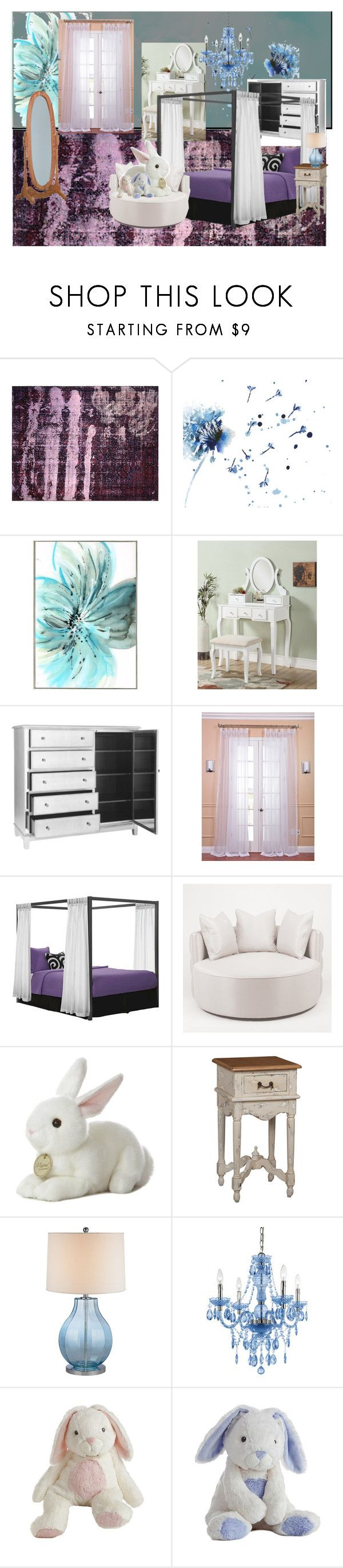 """""""Girls bedroom"""" by gemin ❤ liked on Polyvore featuring interior, interiors, interior design, home, home decor, interior decorating, Nalbandian, Universal Lighting and Decor, Pier 1 Imports and EFF"""