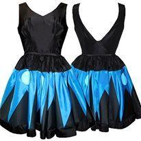 Printet 50s tafetta dress by Dixie Grey