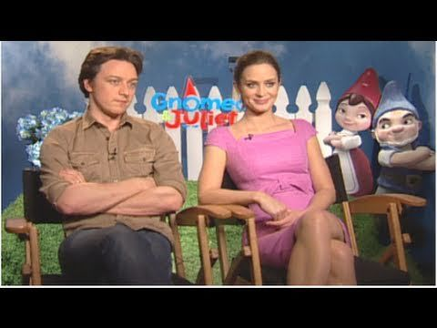 Emily Blunt & James McAvoy Talk Meeting Elton John & Silly Gnome Fears!