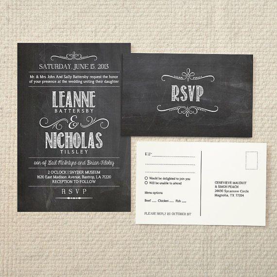 Diy Chalkboard Wedding Invitations: 30 Best Cool Wedding Invites Images On Pinterest