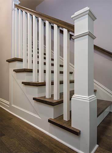 Image result for farmhouse staircase railings