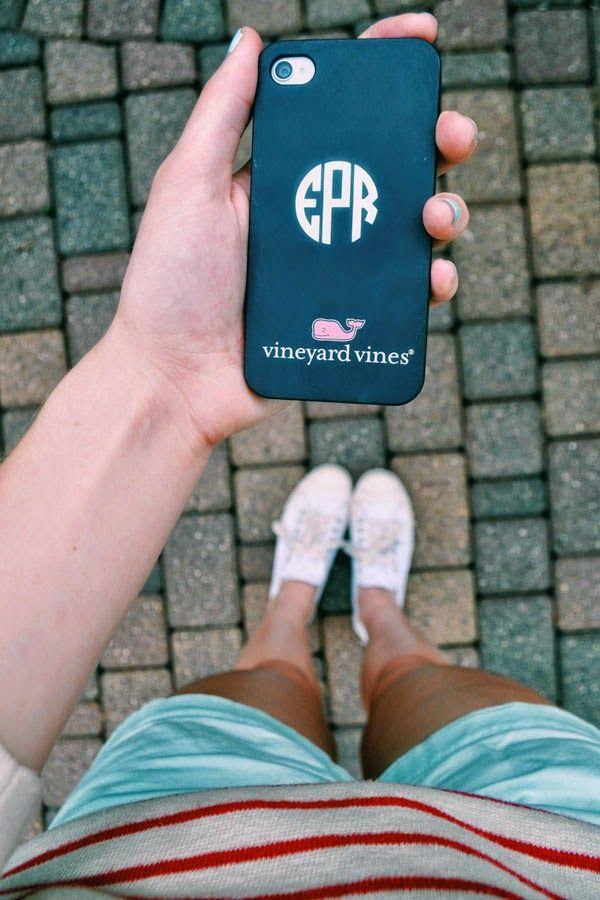 monogrammed vv phone case. It already has my monogram on it. Perfect!