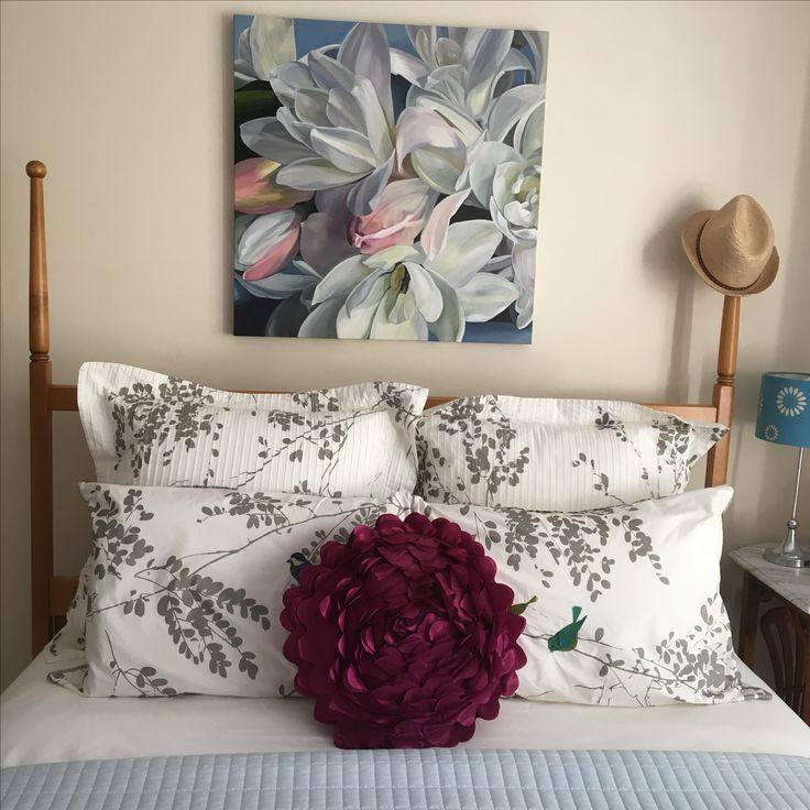 Tuberoses make a beautiful statement above a bed. Jenny Fusca Paintings
