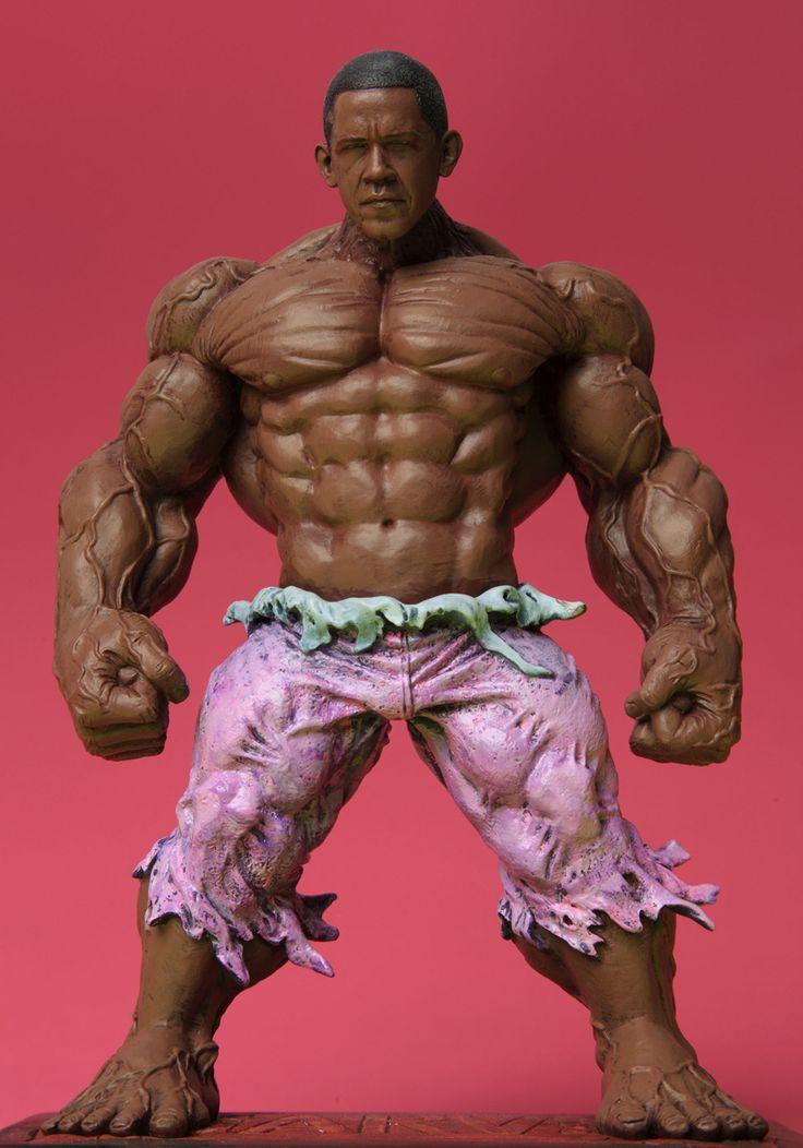 The Barack Obama Incredible Hulk Action Figure - WHAT A JOKE!