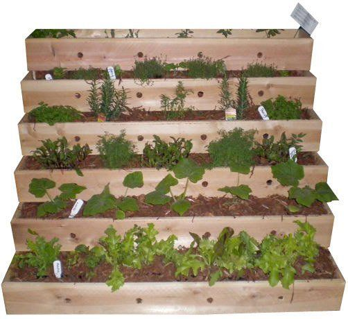 Look small space tiered planter - Planters for small spaces ...