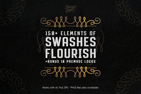 Swashes & Flourish Kit by ihsankl on @creativemarket