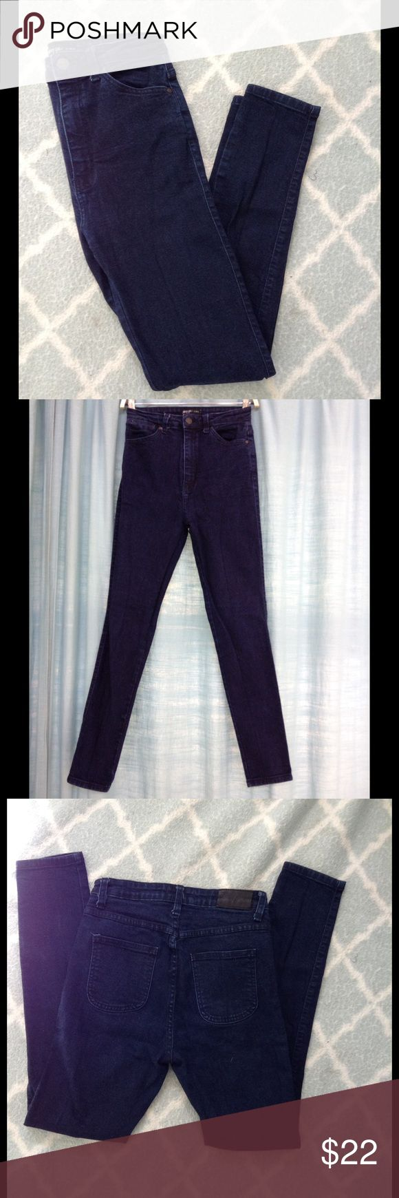 Nast Gal jeans Dark blue Nasty Gal jeans. Skinny high waisted fit. Great condition no distressing or damage. True to size and has a little stretch. Make an offer! Nasty Gal Jeans Skinny