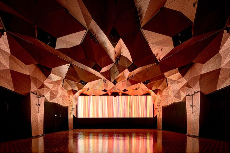 UTS GREAT HALL – ULTIMO - #GreatHall #DRAW #Sydney #university #architecture #perforations #mantle #copper #composite #triangles #scripted #designcompetition #facets #rhino #grasshopper