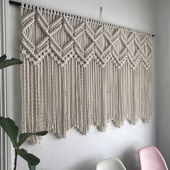 Macrame Pattern Written Pdf By Elsie Goodwin Reform Fibers Etsy Large Macrame Wall Hanging Macrame Wall Hanging Patterns Macrame Patterns