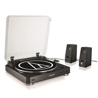 Pack Audio Tehnica Platine AT-LP60BK + 2 Enceintes_0