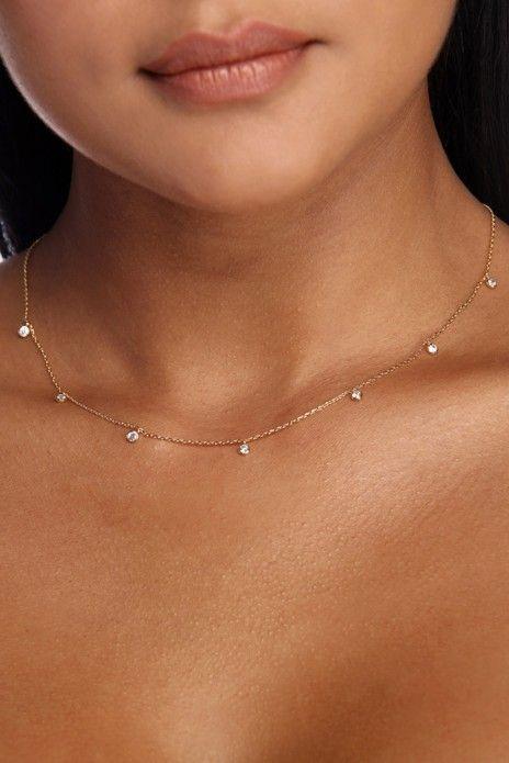 Zierliche Strass Halskette – #Halskette #Strass #zierliche