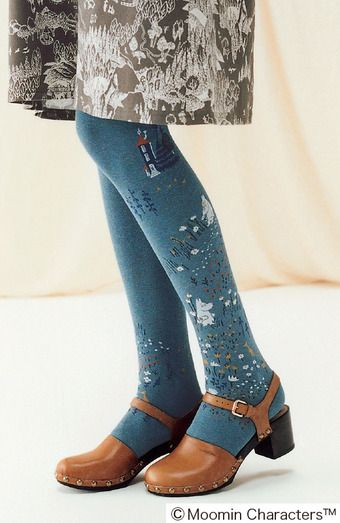 Moomin And Friends; Beautiful Moomin Valley Tights Collection | FELISSIMO