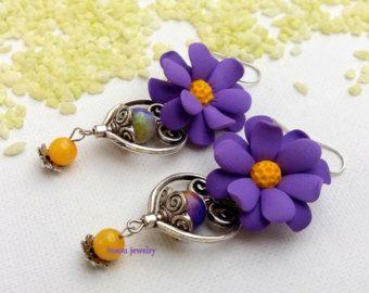 Floral collar joyería primavera flor joyería declaración
