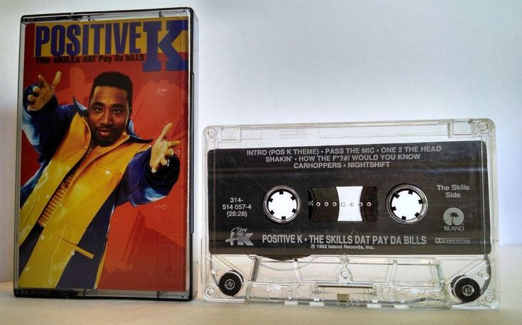 Positive K: THE SKILLS THAT PAY THE BILLS CASSETTE TAPE HIP HOP  #EastCoast