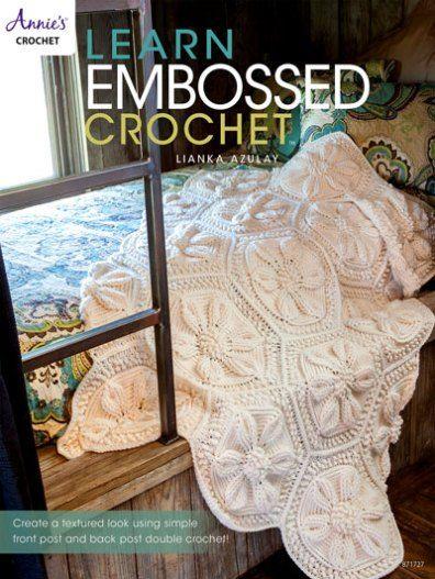 Embossed Crochet Book Cover