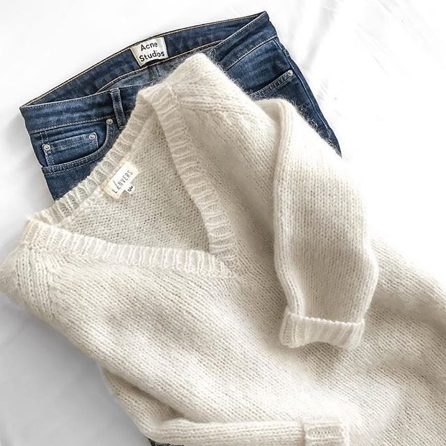 Sweater + jeans = our essentials