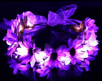 LED Flower crown EDC perfect for Rave outfits by HippyHeadBandz