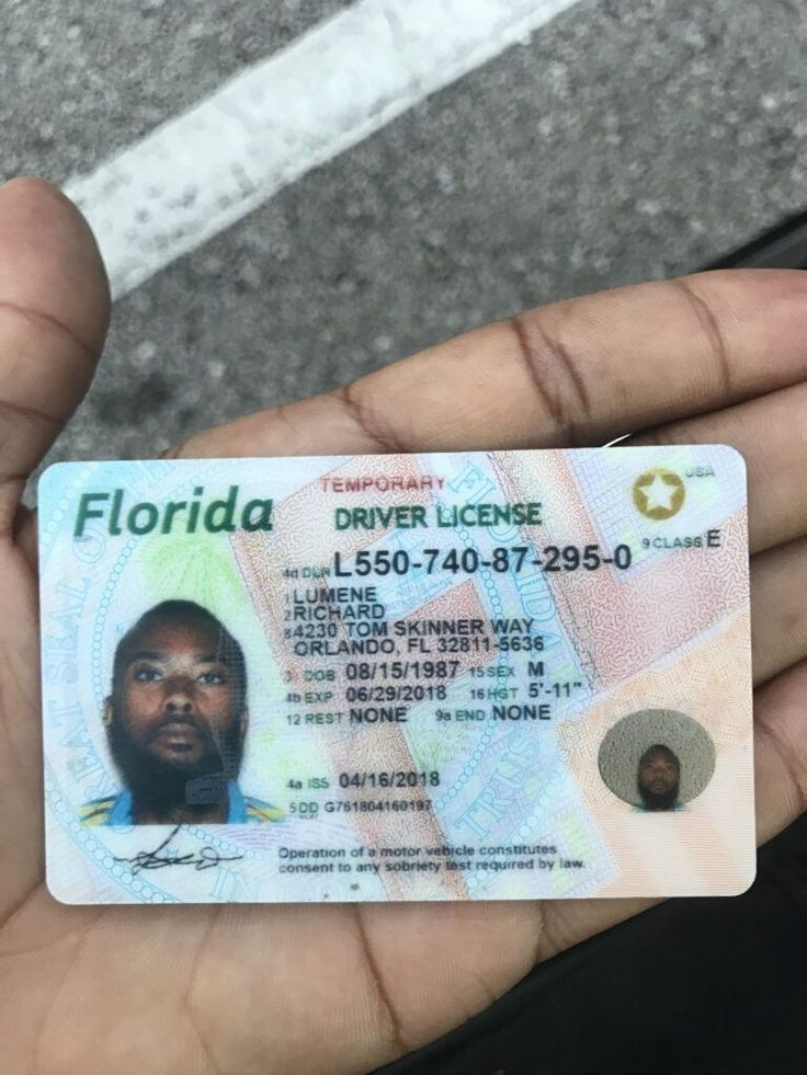 Buy florida drivers licenses online id card template