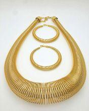 Nouvelle Arrivée Éthiopien Style ensemble bijoux sautoirs collier bracelet boucle d'oreille anneau ensembles 18 k Plaqué Or L'érythrée Habesha Afrique Femmes(China (Mainland))