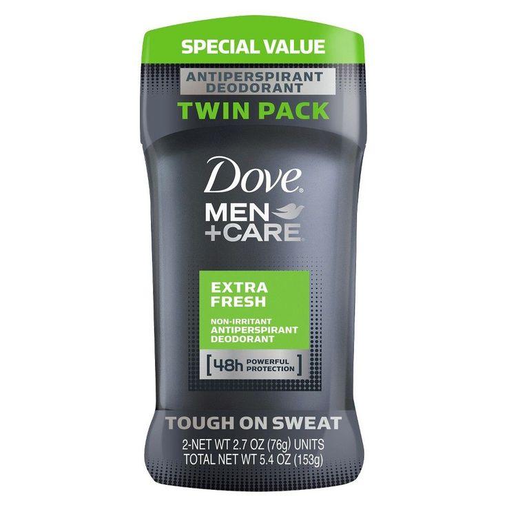 Dove Men+Care Extra Fresh Antiperspirant Deodorant 2.7 oz, Twin Pack