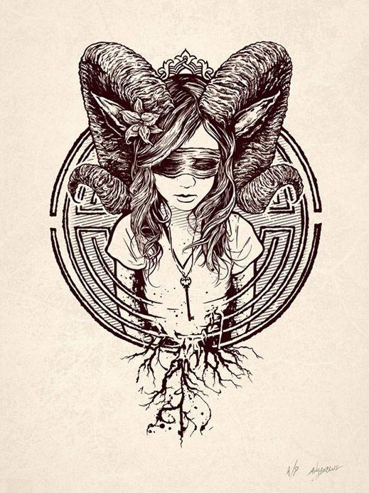 Картинки по запросу girl with antlers art