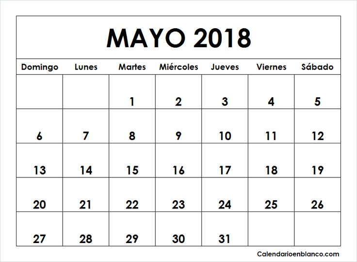 calendario de octubre 2018 para imprimir
