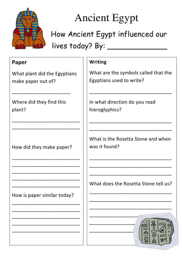ancient-egypt-worksheet by 7GChaffey via Slideshare