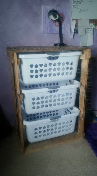 Anyone who is into organization or saving space needs one of these!!  These can be made to fit different size baskets as well.  The one pictured is holding a 2
