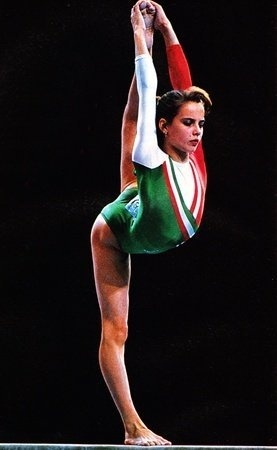 Henrietta Onodi, one of my most favorite gymnastics idols and one of the most beautiful gymnasts in the late 80's-early 90's...I had the amazing opportunity to compete against her (and be beat by her) in her home country (Hungary) while I was still a Junior USA National Team Member