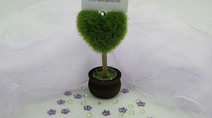 Hjertetræ Bordkortholder til Havebryllup
