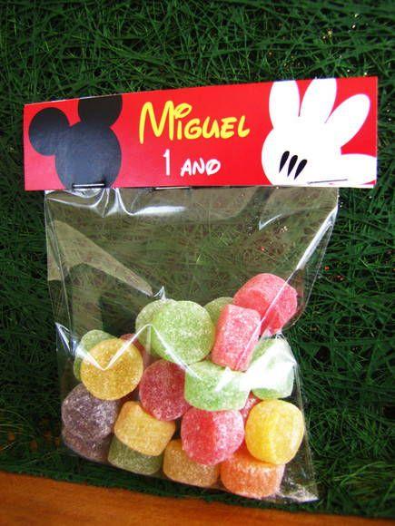 Embalagem para doces Festa Mickey | Design Festeiro