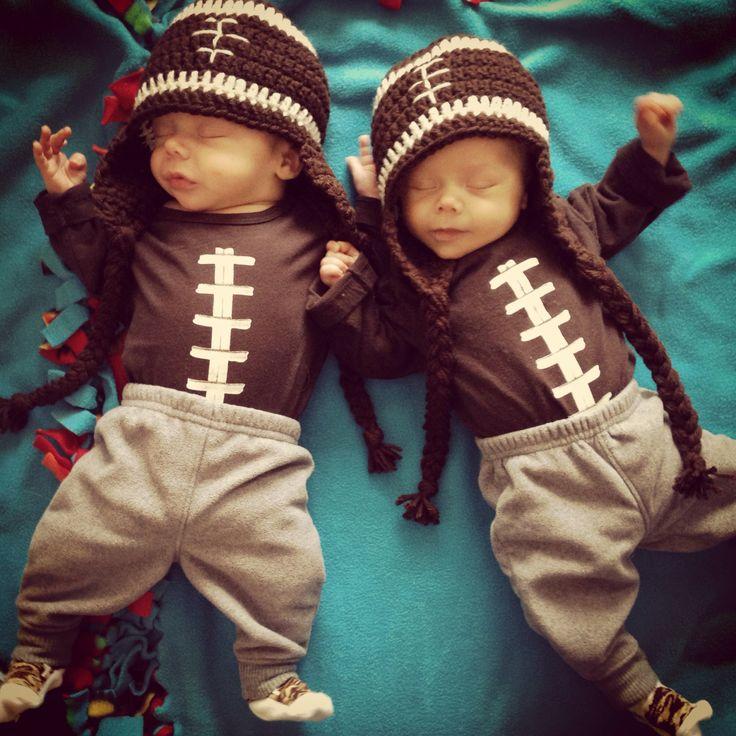 Twin boys! My tiny football babies!