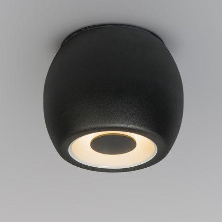 Popular Deckenstrahler Fondo schwarz Schicker Design Strahler komplett aus Stahl gefertigt mit einer mattschwarzen Lackierung Auch als Badezimmer und Au enleuchte