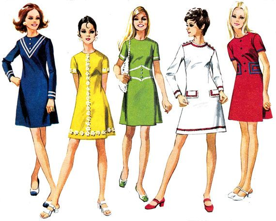 1970s Vintage Sewing pattern Simplicity by allthepreciousthings, these dresses were so comfortable! So easy to make