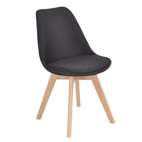 Living & Co Fabric Dining Chair Black