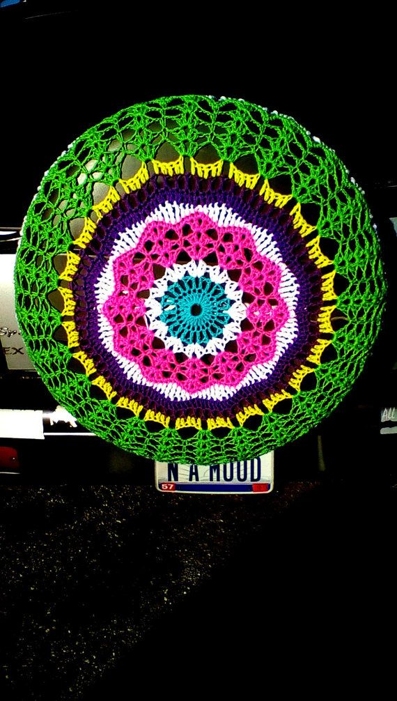 Tire Cozy Spare Tire Cover Crocheted FREE SHIPPING by JazzyGranny