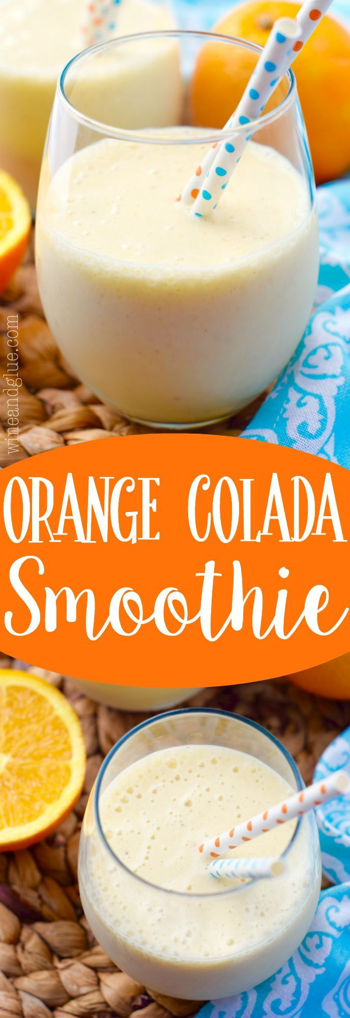 This Orange Colada Smoothie is light and healthy. A perfect breakfast or afternoon snack!