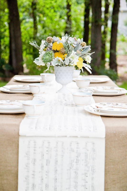music sheets for table runner? now that's different.