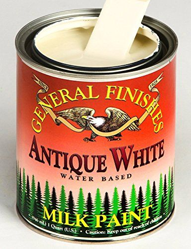 General Finishes PAW Milk Paint, 1 pint, Antique White Ge...