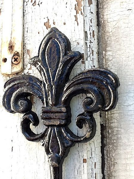 Fleur de Lis Wall Hook in Black. French food is exceptional while French people get a misconception they are warm, sensual, have style can be discriminating, yet aren't we all. And yet all that I've met are at their core good people!