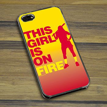 Softball iPhone/Galaxy Case This Girl Is On Fire Batter -