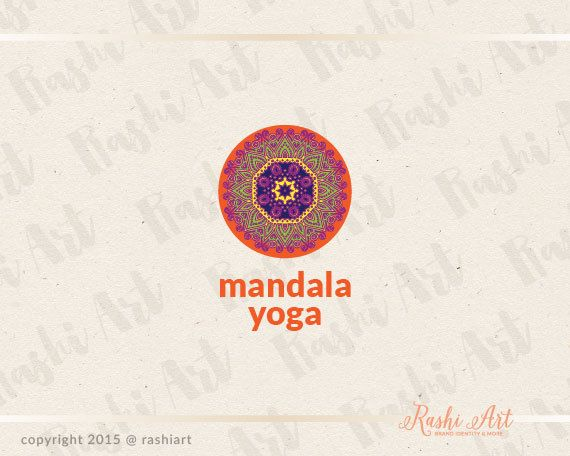 Mandala premade logo for sale on Etsy.