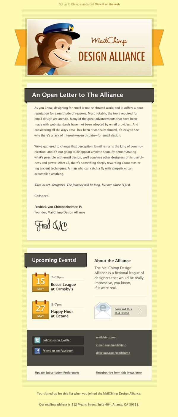 Mailchimp newsletter emails pinterest behance news for Mailchim templates