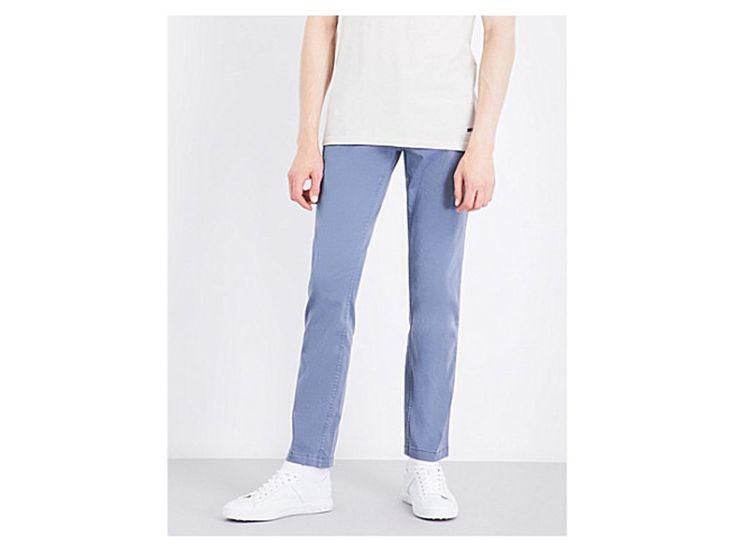 BOSS ORANGE Slim-fit stretch-cotton trousers