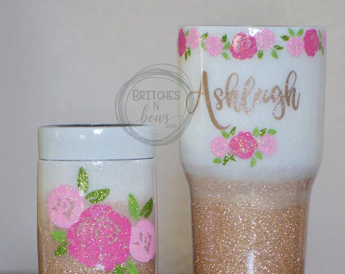 Mommy & Me Glitter Ozark Trail Tumbler 20oz, 30,oz or 40oz AND Matching Can Cooler // Personalized Cups, Custom Tumbler, Ozark Trail Tumbler